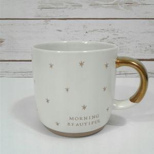 """Hearth & Hand """"Morning Beautiful"""" Golden Star Mug"""